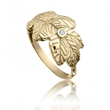 My Energy by Julie Berthelsen - Egeblad ring - Forgyldt med Diamant