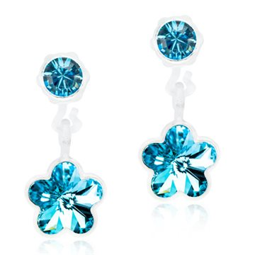 Pendant Flower Aquamarine 4/6 mm