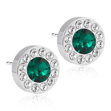 Brilliance Halo Crystal/Emerald 8mm