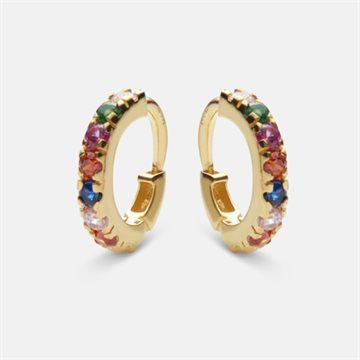 Maanesten - Nubia Color Ørering 18kt Forgyldt 10mm