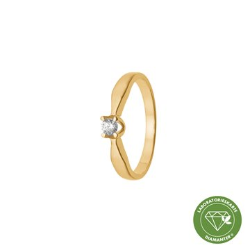 Aagaard - Ring 8kt Guld 0,05ct Labgrown Diamant