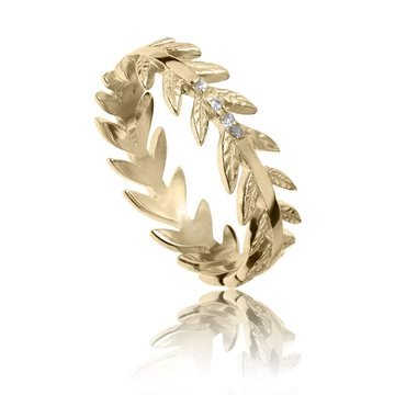 My Energy by Julie Berthelsen - Arktisk pilgren Ring m. diamanter 18kt Forgyldt