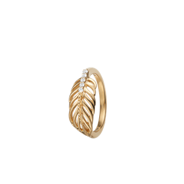 Christina Jewelry & Watches - Feather Ring - Forgyldt