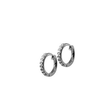 Tennis Darling hoops 10mm m. klare zirkonia 925s