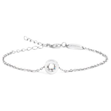 Grand Bezel Crystal Silver 8mm armbånd