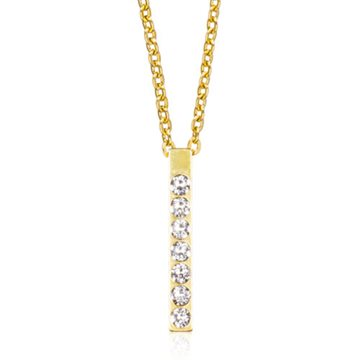 Brilliance Straight Crystal 20mm Gold