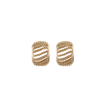 Dotted Line studs, goldpl silver