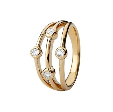 Christina Jewelry & Watches - Thrown Ring - forgyldt sølv 800-3.18.B