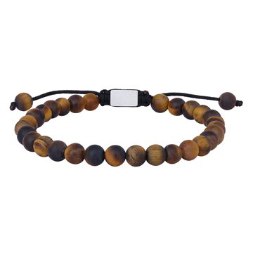 NOA - Bracelet matt yellow tiger eye 19 - 25cm