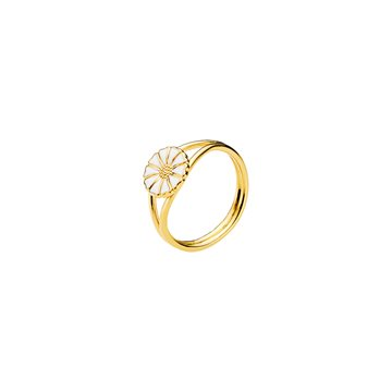 Lund - Marguerit Ring 9mm 24kt Forgyldt