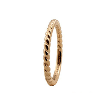Christina Jewelry & Watches - Rope ring - forgyldt sølv 800-0.1.B