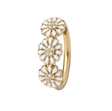 Christina Jewelry & Watches - Marguerite Love Ring - forgyldt sølv 800-4.4.B