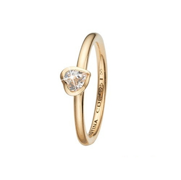 Christina Jewelry & Watches - Promise ring - forgyldt sølv m/ topas 800-2.14.B