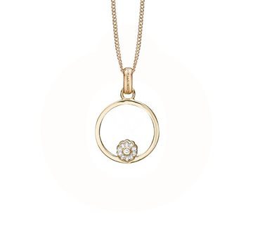 Christina Jewelry & Watches - Marguerite Circle Vedhæng - forgyldt 680-G82