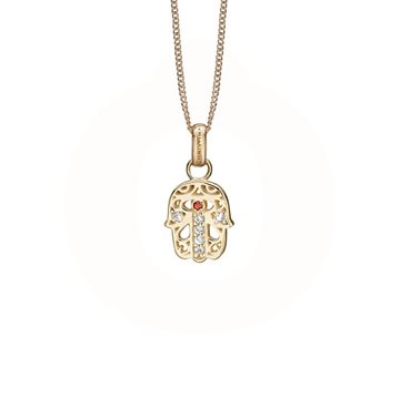 Christina Jewelry & Watches - Hamsa Hand Vedhæng - forgyldt sølv 680-G83