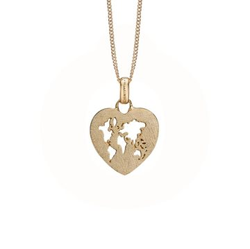 Christina Jewelry & Watches - World Heart Vedhæng - forgyldt 680-G84