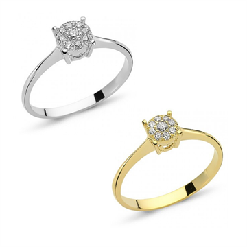 NURAN - 14kt solitaire ring m. brillanter