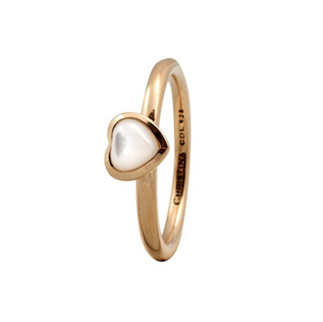 Christina Jewelry & Watches - Heart ring - forgyldt sølv m/ perlemor 800-1.3.B