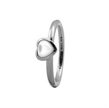 Christina Jewelry & Watches - Heart ring - sølv m/ perlemor 800-1.3.A