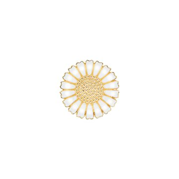 Lund - Marguerit Broche 25mm 24kt Forgyldt