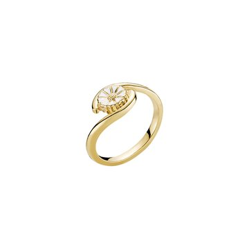 Lund - Marguerit Ring 1x7,5mm 24kt Forgyldt
