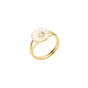 Lund - Marguerit Ring 11mm 24kt Forgyldt