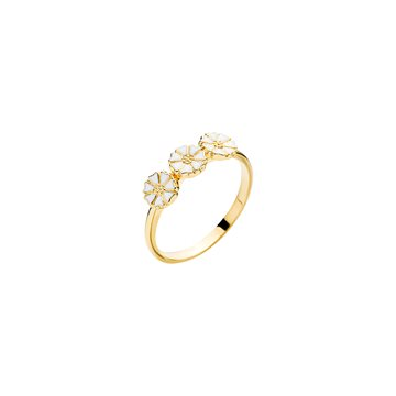 Lund - Marguerit Ring 3x5mm 24kt Forgyldt