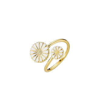 Lund - Marguerit Ring 24kt Forgyldt