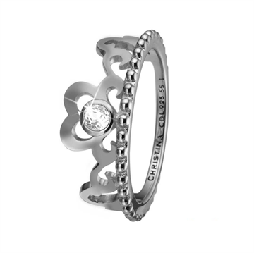 Christina Jewelry & Watches - Princess Hearts Ring - sølv 800-2.16.A