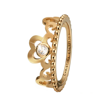 Christina Jewelry & Watches - Princess Hearts Ring - Forgyldt sølv 800-2.16.B