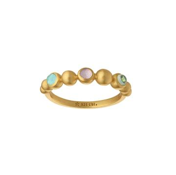 byBiehl - Pebbles band colors forgyldt ring
