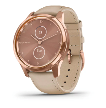 Garmin - Vívomove Luxe - RoseGold PVD/Beige Leather
