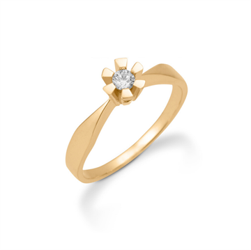 Aagaard - Eternity 8kt Guldring m. 0,05ct 6 greb