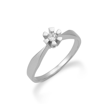 Aagaard - Eternity 8kt Hvidguld Ring 0,03ct 6 greb