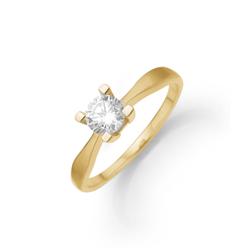 Aagaard - Eternity 8kt Guldring m. 0,05ct 4 greb
