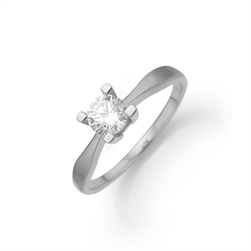 Aagaard - Eternity 8kt Hvidguld Ring 0,03ct 4 greb