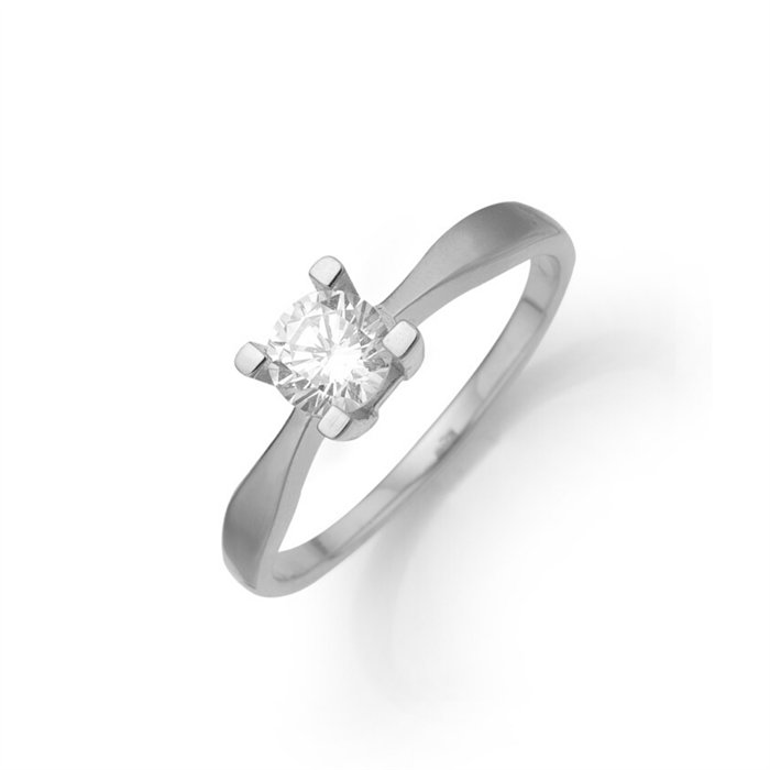 Aagaard - Eternity 8kt Hvidguld Ring 0,05ct 4 greb