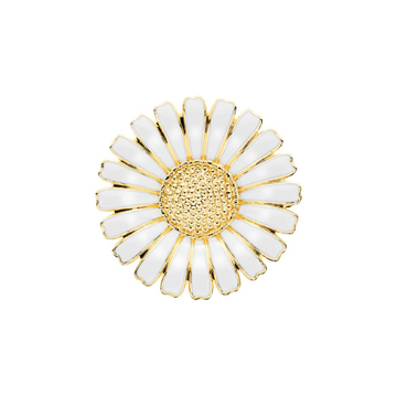 Lund - Marguerit Broche 36mm 24kt Forgyldt