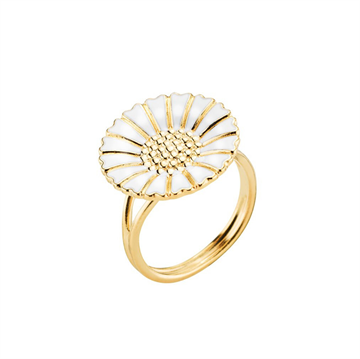 Lund - Marguerit Ring 18mm 24kt Forgyldt