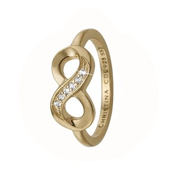 Christina Jewelry & Watches - Eternity Ring - forgyldt sølv 800-2.20.B