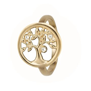 Christina Jewelry & Watches - Tree Of Life Ring - forgyldt sølv 800-3.23.B