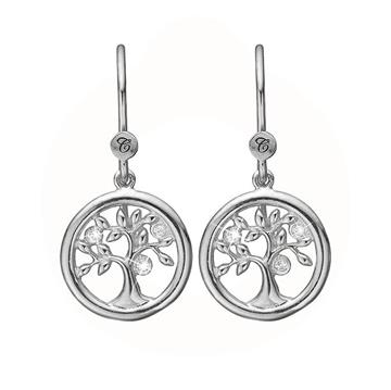 Christina Jewelry & Watches - Tree Of Life ørehængere - sølv 670-S21