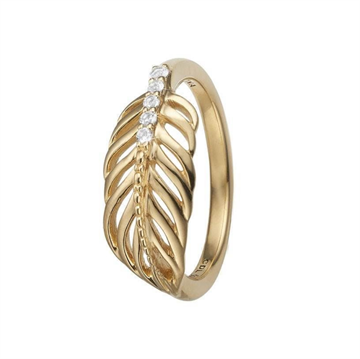 Christina Jewelry & Watches - Feather Ring - forgyldt sølv 800-2.15.B