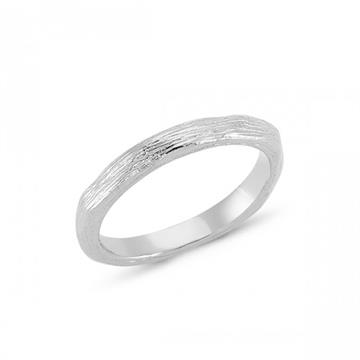Nuran - 14kt Hvidguld Nature Ring str.54