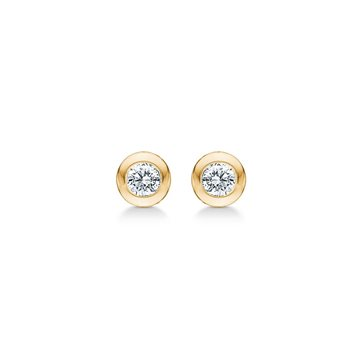 Mads Ziegler - Poetry Dot Earring 14kt m. 0,04ct W/SI