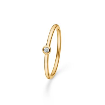 Mads Ziegler - Poetry Dot Ring 14kt rødguld m. 0,03ct W/SI