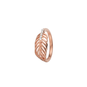Christina Jewelry & Watches - Feather Ring - Rosaforgyldt