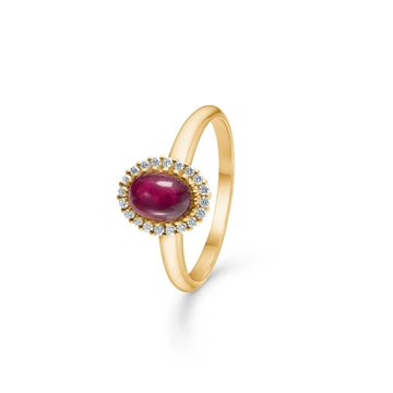 Mads Ziegler - Royal Ruby Ring m. Rubin og 0,12ct W/SI