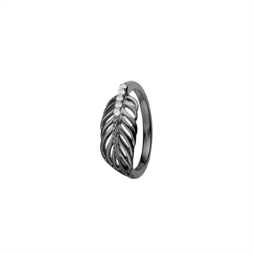 Christina Jewelry & Watches - Feather Ring - Rhodineret Sølv