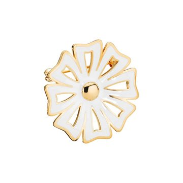 Lund - Marguerit Broche Kontur 30mm 24kt Forgyldt